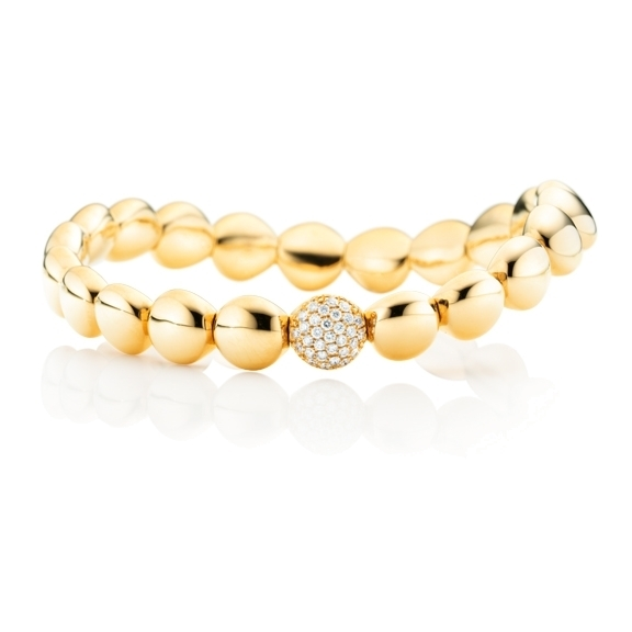 "Armband ""Dolcini"" 750GG, 31 Diamanten Brillant-Schliff 0.26ct TW/si, Innenumfang 17.0 cm"