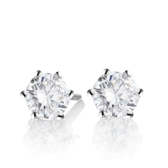 "Ohrstecker ""Diamante in Amore"" 750WG 6-er Krappe, 2 Diamanten Brillant-Schliff á 0.75ct TW/vs1 GIA Zertifikat"