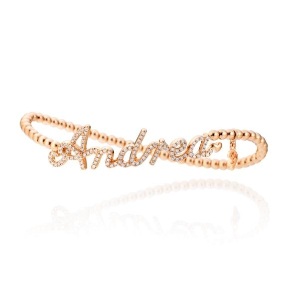 "Armband ""Poesia"" 750RG, 111 Diamanten Brillant-Schliff 0.47ct TW/vs1, Innenumfang 17.0 cm"