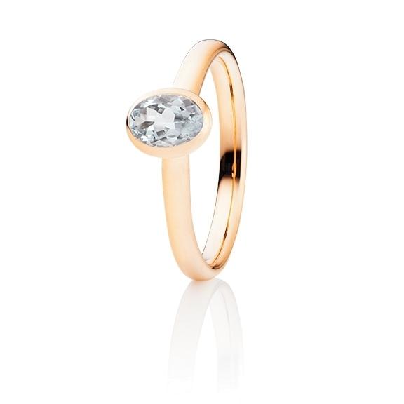 "Ring ""Tutti Frutti"" 750RG, 1 Diamant Brillant-Schliff 0.55ct TW/si"