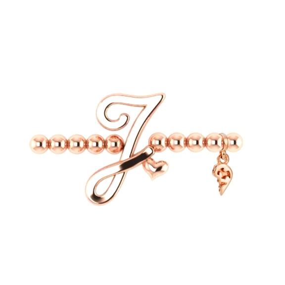 "Armband ""Poesia"" 750RG, Buchstabe ""J"", Innenumfang 17.0 cm"