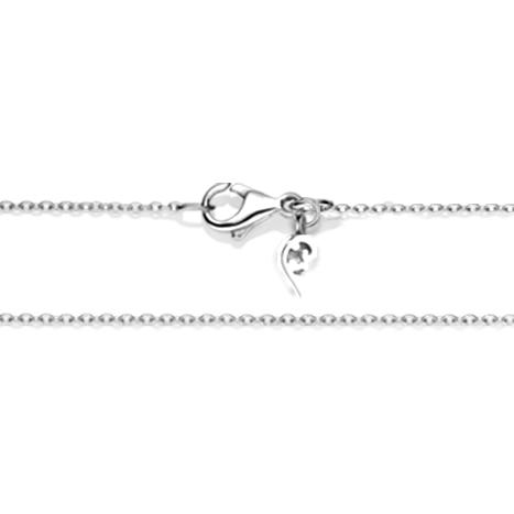 Collierkette Anker rund 750WG 1-reihig mit Markenzeichen, Ø 1.5 mm, Länge 45.0 cm, Zwischenöse bei 42.0 cm