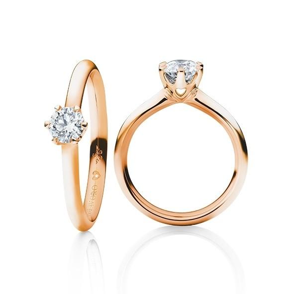 """Ring """"Diamante in Amore"""" 750RG 6-er Krappe, 1 Diamant Brillant-Schliff 0.10ct TW/vs1, 1 Diamant Brillant-Schliff 0.005ct TW/vs1"""