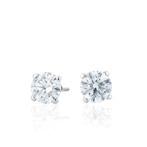 "Ohrstecker ""Diamante in Amore"" 750WG 4-er Krappe, 2 Diamanten Brillant-Schliff á 0.50ct TW/vs1 GIA Zertifikat"