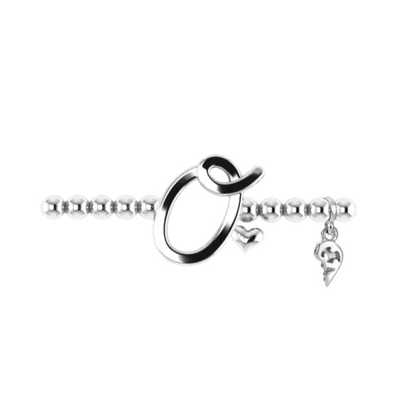 "Armband ""Poesia"" 750WG, Buchstabe ""O"", Innenumfang 17.0 cm"
