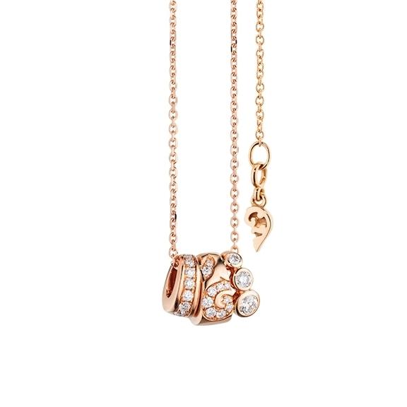 """Anhänger """"Sérail"""" 750RG, 20 Diamanten Brillant-Schliff 0.23ct TW/vs"""