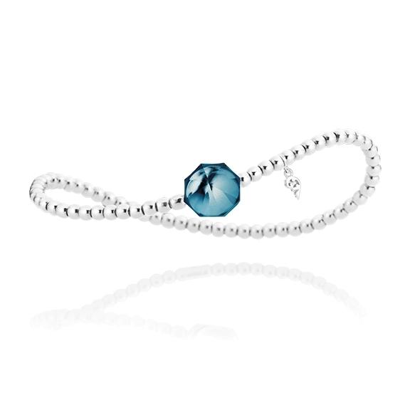 "Armband ""My Sunshine"" 750WG, Topas London blue Cabochon facettiert 8.90 x 8.90mm ca. 3.70ct, ""Flügel"" 750WG"