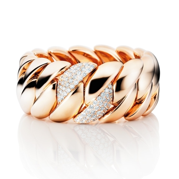 "Armband ""Grandezza"" 750RG, 68 Diamanten Brillant-Schliff 4.30ct TW/vs, Innenumfang 17.0 cm"