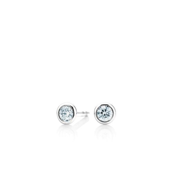 """Ohrstecker """"Classico"""" 750WG Zargenfassung, 2 Diamanten Brillant-Schliff 0.20ct TW/si"""