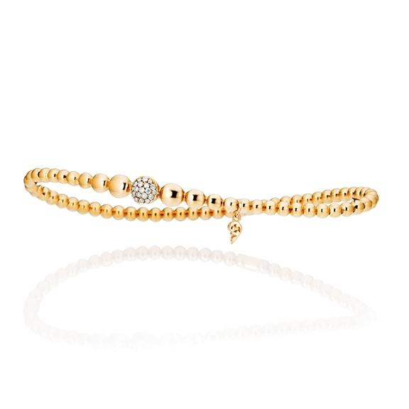 "Armband ""Dolcini"" 750GG, 19 Diamanten Brillant-Schliff 0.13ct TW/si, Innenumfang 17.0 cm"