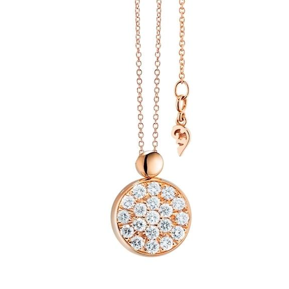 "Collier ""Dolcini"" 750RG, 19 Diamanten Brillant-Schliff 0.30ct TW/vs, Länge 45.0 cm"