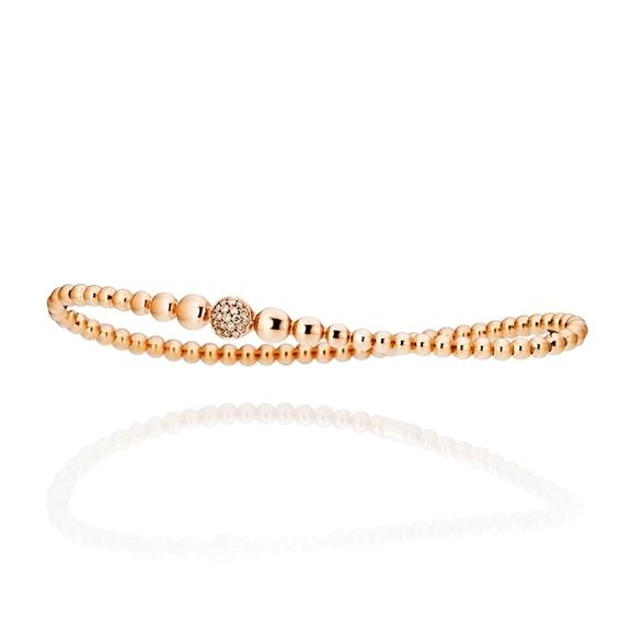 "Armband ""Dolcini"" 750RG, 19 Diamanten Brillant-Schliff 0.13ct TW/si, Innenumfang 16.0 cm"