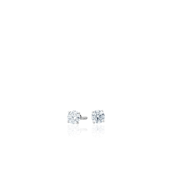 "Ohrstecker ""Diamante in Amore"" 750WG 4-er Krappe, 2 Diamanten Brillant-Schliff 0.10ct TW/vs1"