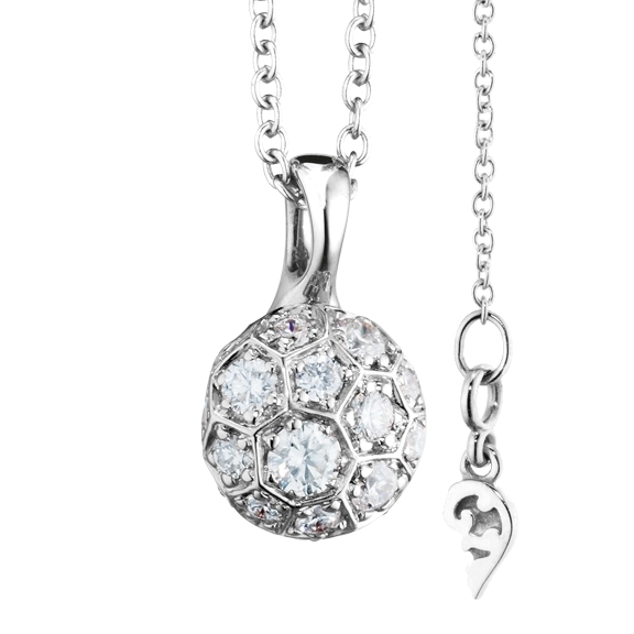 "Anhänger ""Fiore Magico"" 750WG Carreaufassung, 23 Diamanten Brillant-Schliff 0.92ct TW/vs"