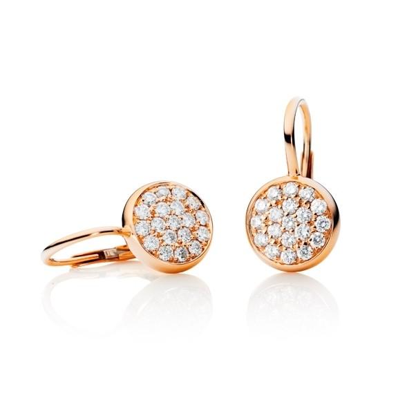"Ohrhänger ""Dolcini"" 750RG, 38 Diamanten Brillant-Schliff 0.74ct TW/vs"