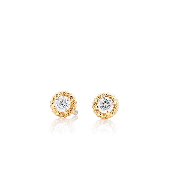 "Ohrstecker ""Amore Mio"" 750GG 2 Diamanten Brillant-Schliff 0.25ct TW/si"