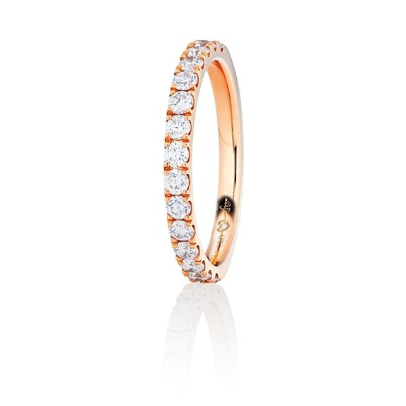 "Memoirering ""Diamante in Amore"" 750RG, 11 Diamanten Brillant-Schliff 1.10ct TW/vs1, 1 Diamant Brillant-Schliff 0.005ct TW/vs1"