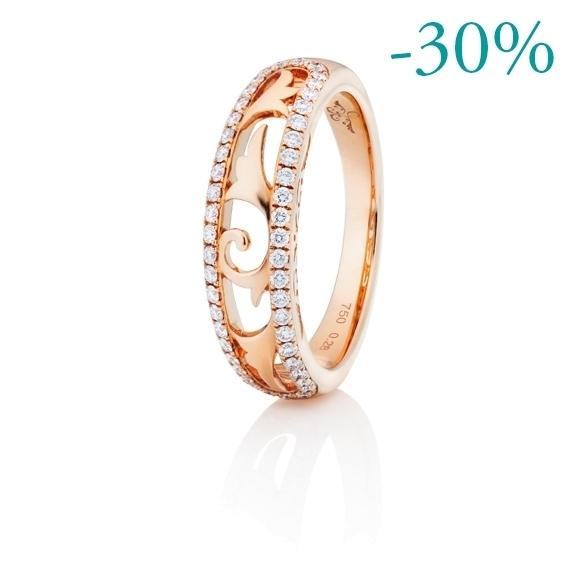 """Ring """"Sérail"""" 750RG, 48 Diamanten Brillant-Schliff 0.27ct TW/vs"""
