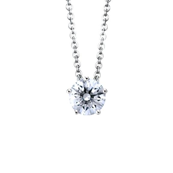 """Collier """"Diamante in Amore"""" 750WG 5-er Krappe, 1 Diamant Brillant-Schliff 0.75ct TW/vs1 GIA Zertifikat, Länge 45.0 cm, Zwischenöse bei 42.0 cm"""