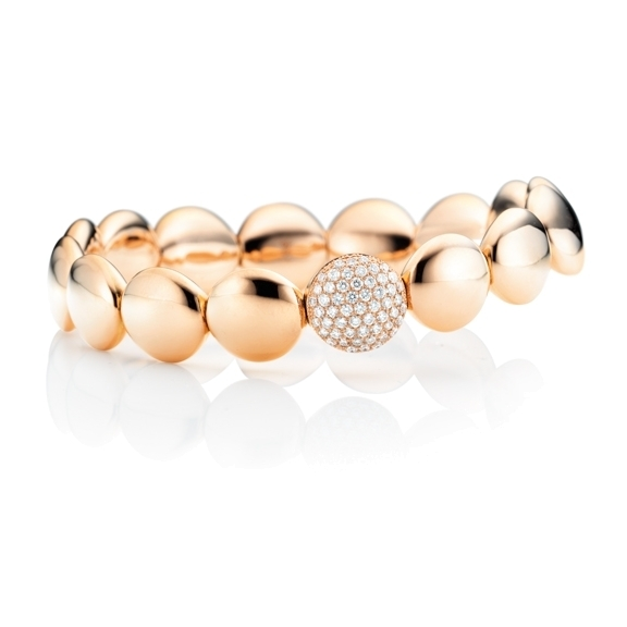 "Armband ""Dolcini"" 750RG, 55 Diamanten Brillant-Schliff 0.78ct TW/si, Innenumfang 17.0 cm"