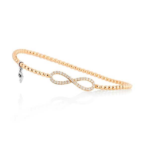 "Armband ""Flessibile"" 750GG, 35 Diamanten Brillant-Schliff 0.30ct TW/vs1, Innenumfang Ø 17.0 cm"