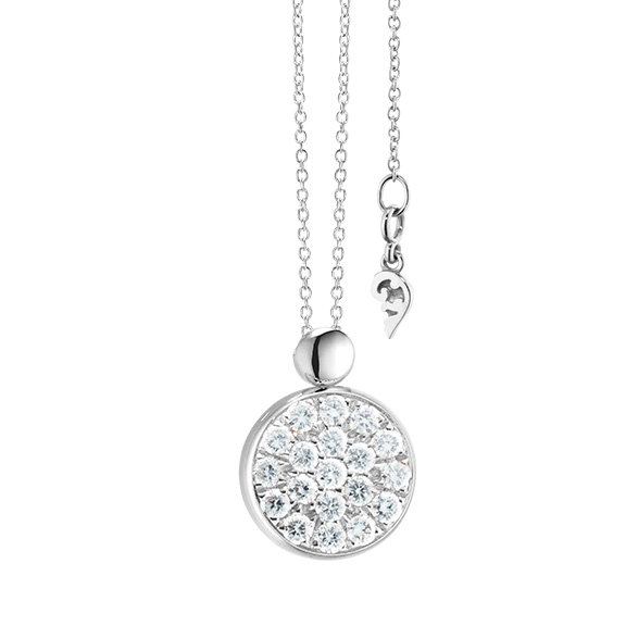 "Collier ""Dolcini"" 750WG, 19 Diamanten Brillant-Schliff 0.30ct TW/vs, Länge 45.0 cm"