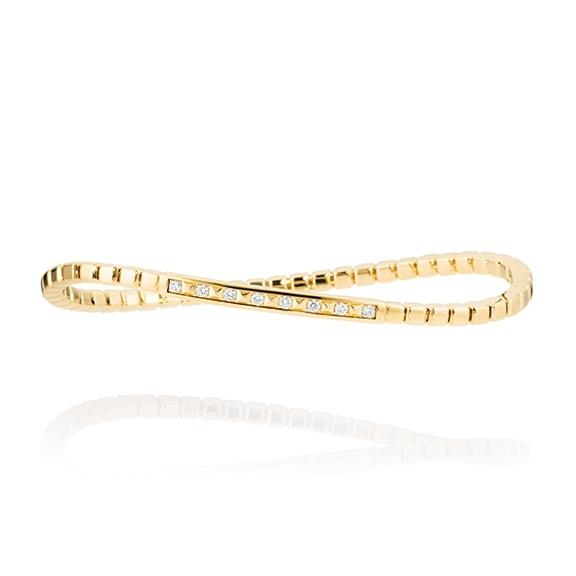 "Armband ""Manhattan"" 750GG, 8 Diamanten Brillant-Schliff 0.17ct TW/vs, Innenumfang 17.0 cm"