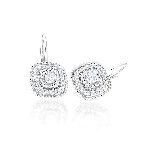 """Ohrhänger """"Amore mio"""" 750WG, 34 Diamanten Brillant-Schliff 0.16ct TW/si"""