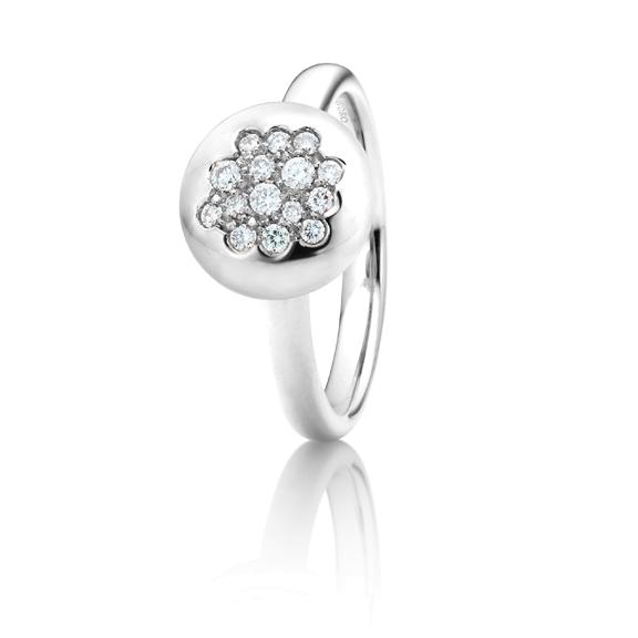 "Ring ""Dolcini"" 750WG, 15 Diamanten Brillant-Schliff 0.20ct TW/vs"