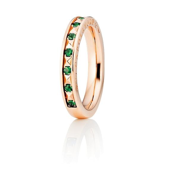 "Ring ""Manhattan"" 750RG, 10 Tsavorite facettiert ca. 0.23ct"