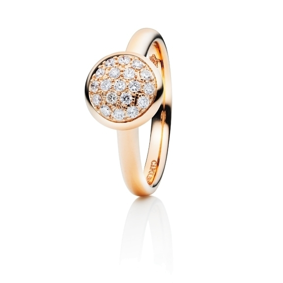 "Ring ""Dolcini"" 750RG, 19 Diamanten Brillant-Schliff 0.30ct TW/vs"
