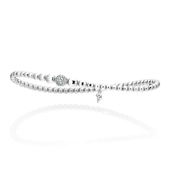 "Armband ""Dolcini"" 750WG, 19 Diamanten Brillant-Schliff 0.13ct TW/si, Innenumfang 17.0 cm"