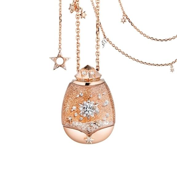 "Billion Dreams ""Magic Star"" Traumkugel 750RG/WG,  113 Diamanten 1.30ct TW/vs1, davon 88 schwebende Diamanten, Collier 1-reihig, 11 Diamanten 0.06ct TW/vs1 43cm, Armband 20 Diamanten 0.12ct TW/vs1 40cm"