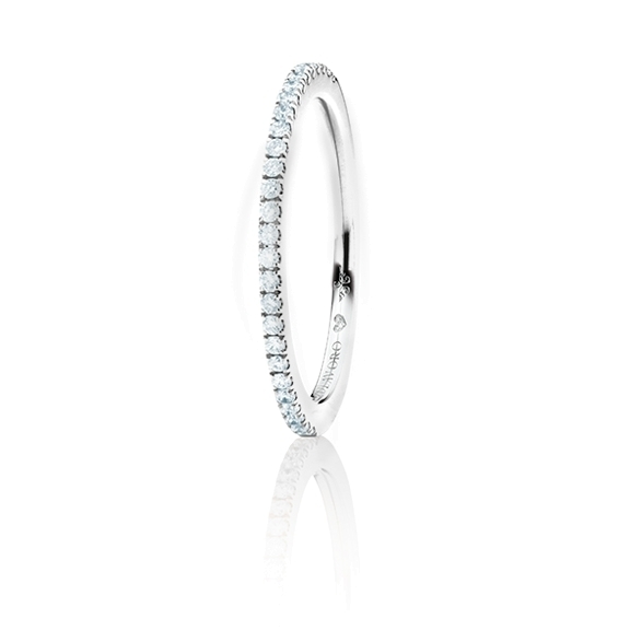 """Memoirering """"Diamante in Amore"""" 750WG, 27 Diamanten Brillant-Schliff 0.18ct TW/vs1, 1 Diamant Brillant-Schliff 0.005ct TW/vs1"""