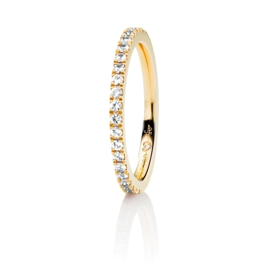 "Memoirering ""Diamante in Amore"" 750GG, 21 Diamanten Brillant-Schliff 0.26ct TW/vs1, 1 Diamant Brillant-Schliff 0.005ct TW/vs1"