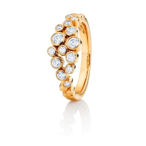 "Ring ""Prosecco"" 750GG, 14 Diamanten Brillant-Schliff 0.50ct TW/vs"