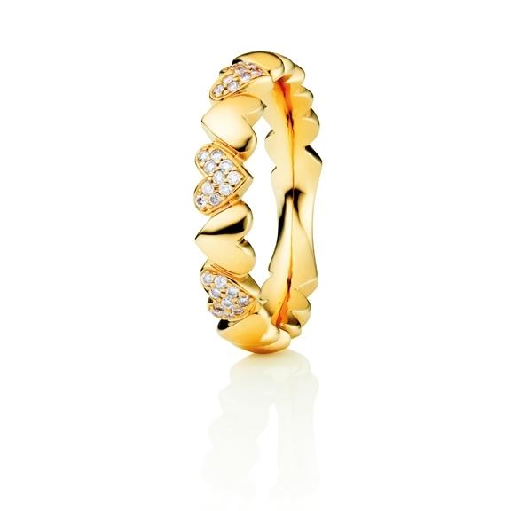 "Ring ""Fantasia"" 750GG, 30 Diamanten Brillant-Schliff 0.15ct TW/si"
