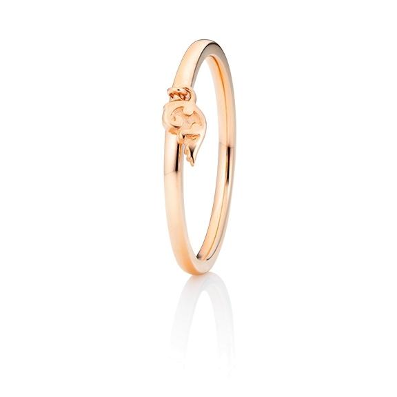 """Ring """"Fantasia"""" 750RG halbrund mit Markenzeichen"""