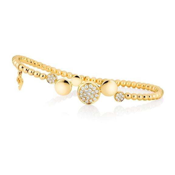 "Armband ""Dolcini"" 750GG, 33 Diamanten Brillant-Schliff 0.36ct TW/vs1, Innenumfang 17.0 cm"