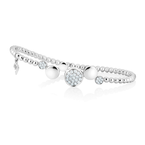 "Armband ""Dolcini"" 750WG, 33 Diamanten Brillant-Schliff 0.36ct TW/vs1, Innenumfang 17.0 cm"