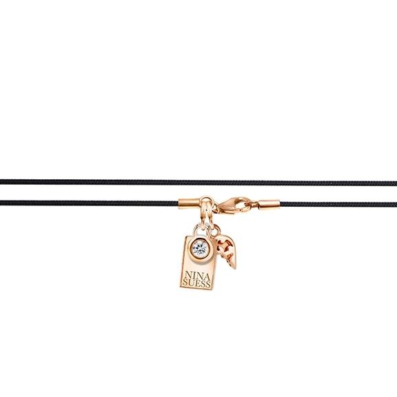 "Textilband ""Nina Suess"" 750RG, schwarz 1-reihig, 60.0 cm"