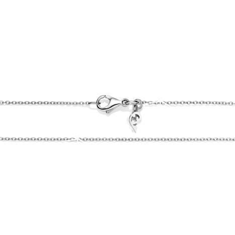 Collierkette Anker rund diamantiert 750WG 1-reihig mit Markenzeichen, Ø 0.9 mm, Länge 45.0 cm, Zwischenöse bei 42.0 cm
