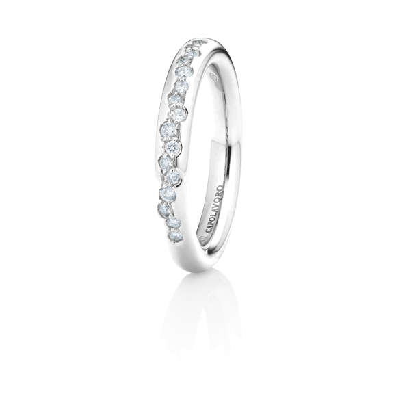 "Ring ""Dolcini"" 750WG, 16 Diamanten Brillant-Schliff 0.17ct TW/vs"