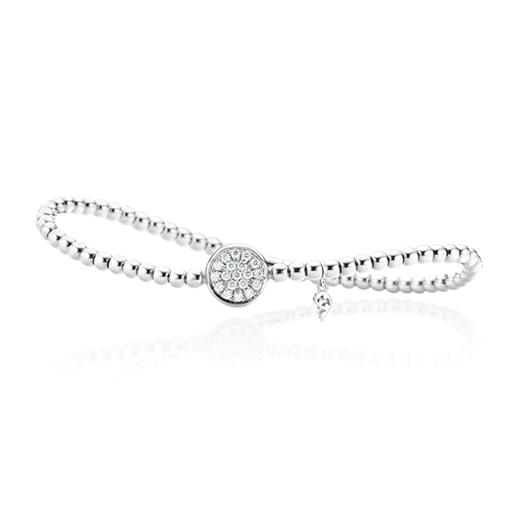 "Armband ""Dolcini"" 750WG, 19 Diamanten Brillant-Schliff 0.27ct TW/si, Innenumfang 17.0 cm"