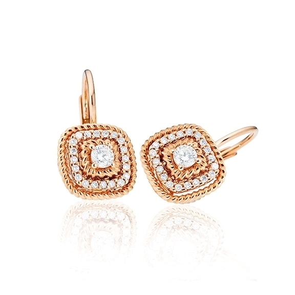 """Ohrhänger """"Amore mio"""" 750RG, 34 Diamanten Brillant-Schliff 0.16ct TW/si"""