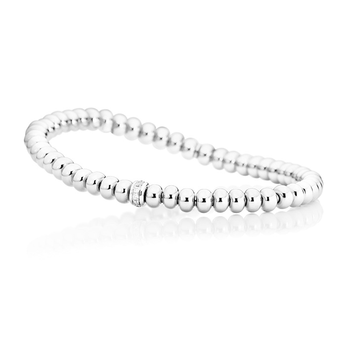 "bracelet ""Flessibile"" 18k white gold 11 diamonds brilliant cut 0 09"