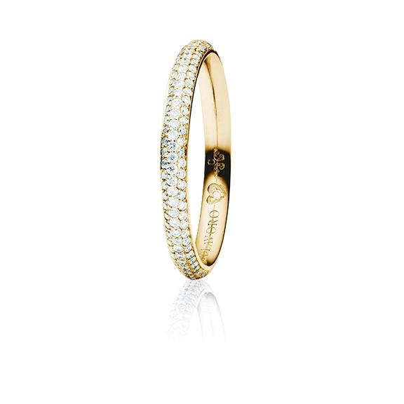 """Ring """"Diamante in Amore"""" 750GG Pavé, 94 Diamanten Brillant-Schliff 0.35ct TW/vs1, 1 Diamant Brillant-Schliff 0.005ct TW/vs1"""