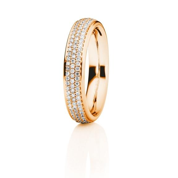 """Ring """"Fantasia"""" 750RG, 109 Diamanten Brillant-Schliff 0.44ct TW/si"""