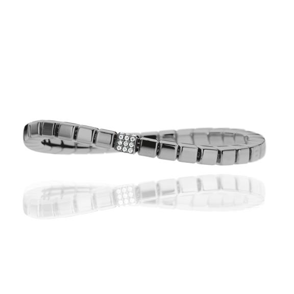 "Armband ""Rocks"" 750WG Würfel, 36 Diamanten Brillant-Schliff 0.30ct TW/si, Innenumfang 19.0 cm"