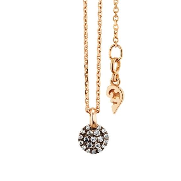 "Anhänger ""Dolcini"" 750RG, 20 Diamanten Brillant-Schliff 0.09ct grau"